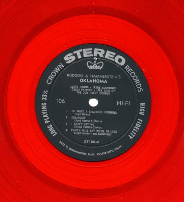 Early red vinyl stereo album